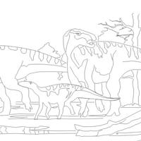 GeoZone, DinoZone, Gerald Allan Davie, Dinoman, dinosaurs, pterosaurs, ichthyosaurs, plesiosaurs, Mesozoic, Walking with Dinosaurs, Triassic, Jurassic, Cretaceous, Extinction, Trilobites, Cambrian Extinction, Cambrian, Permian, Dicynodonts, Trilobites, Cretaceous Tertiary, Cretaceous Paleogene, Jurassic Park, Jurassic World, Museums, Paleontology, Palaeontology, bones, archaeology, The DinoZone Colouring Book, The DinoZone Coloring Book, Dinosaur Coloring Book, DinoZone Colouring Book